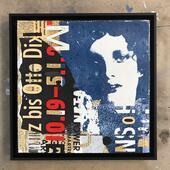 Hidden (mixed media collage), 40 x 40cm