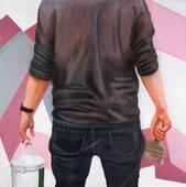 Adrian · 2020 · Eitempera, Öl auf Leinwand · 100 x 100 cm