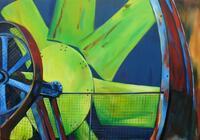 Industriekultur , Triebrad, Landschaftspark Duisburg Nord/100 x 70 cm