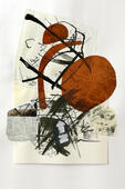 Collage aus diversen Zeichnungen mit Tusche