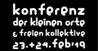 Konferenz der kleinen Orte & freien Kollektive