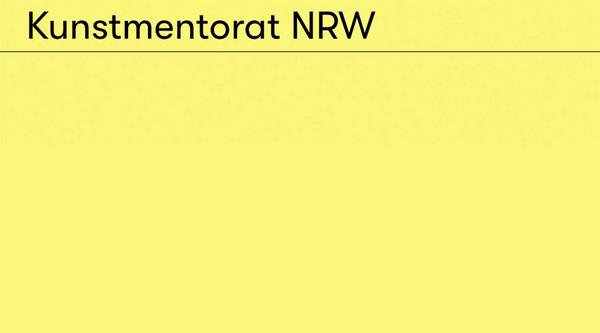 Mentoratsprogramm für Künstlerinnen und Künstler in Nordrhein-Westfalen