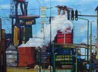 Blick auf Thyssen Krupp Steel /Duisburg 120 x 90 cm/