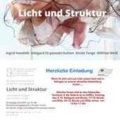 Ausstellung Licht und Struktur Galerie SK Solingen